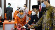 Bupati Kulon Progo Drs.H.Sutedjo melaunching Aplikasi Pemilihan OSIS (Pemilos) bersama KPU dan Balai Pendidikan Menengah. (Foto: MC.Kab.Kulon Progo)