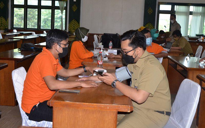 Kegiatan Posbindu diadakan rutin di masyarakat maupun lingkungan Pemkot Yogyakarta untuk deteksi dini penyakit tidak menular. (Foto: Pemkot Yogya)