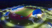 Stadion outdoor di Mimika Sport Complex (MSC), tempat atlet-atlet PON akan memperebutkan medali-medali atletik. (Foto:Twitter ponxx2020papua)