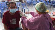 Staff Ahli Bupati Bidang Kesejahteraan Rakyat, Mafilindati Nur Aini menyampaikan vaksinasi ini merupakan bagian dari Program Percepatan Vaksinasi Covid-19 di Kabupaten Sleman. (Foto: MC Kab Sleman)