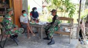 Prajurit Satgas Pamtas Yonif 512/QY kunjungi warga untuk pererat silaturahmi. (Foto: Penerangan Yonif 512/QY)