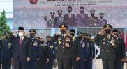 Danrem 072/Pamungkas (Danrem 072/Pmk) Brigjen TNI Afianto mengikuti upacara peringatan HUT ke-76 TNI di wilayah DIY secara virtual di Akademi Angkatan Udara. (Foto: Penrem 072)