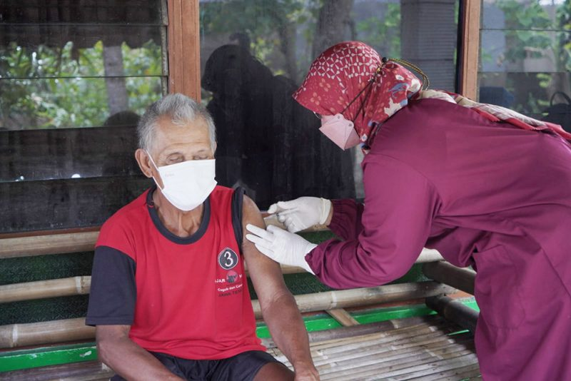 Saat ini jumlah warga Klaten tervaksin mencapai 70 persen dari target total target 1.006.650 orang usia di atas 12 tahun. (Foto: Diskominfo Klaten)